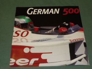 GERMAN 500 CART Indycar race 2000 Lausitzring. 8 page col brochure